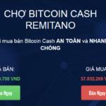 Cách mua bán Bitcoin Cash bằng tài khoản ngân hàng Vietcombank tại Remitano